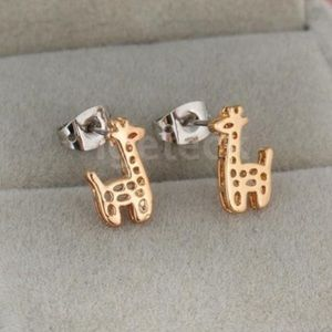 Gold Giraffe Earrings